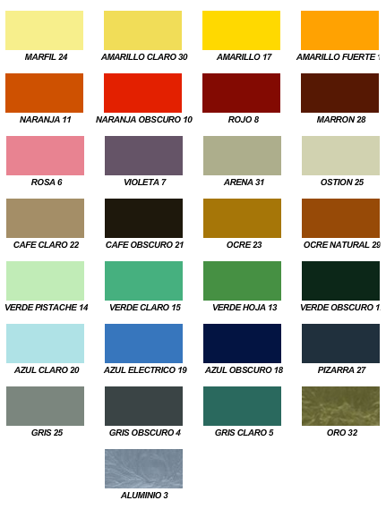 Muestrario de Colores :: Pinturas y Recubrimientos, S.A. de C.V.